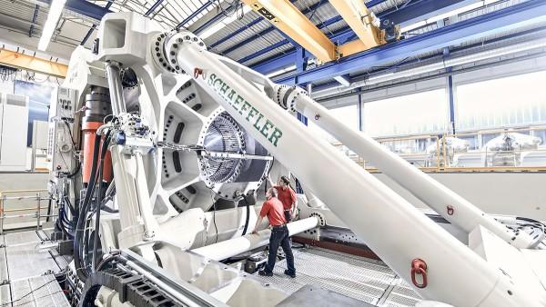 Banco de pruebas para grandes rodamientos ASTRAIOS